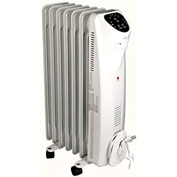 The NewAir AH-450 electric oil-filled radiator space heater is capable of effectively heating personal spaces of up to 150 square feet, which makes it perfect for dorm rooms, dens and small offices. Including safety features and 3 heat settings, this...