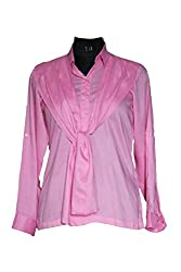 Exhort Fashion Pink Rayon Shirt