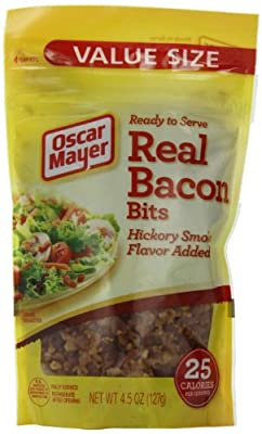 Real Bacon Bits, 4.5-Ounce Pouches (Pack of 6) by Real Bacon