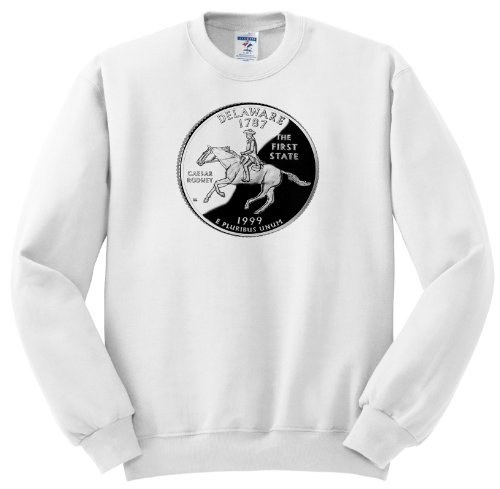 Sandy Mertens State Of Delaware - State Quarter Of Delaware (Pd-Us) - Sweatshirts - Adult Sweatshirt Xl
