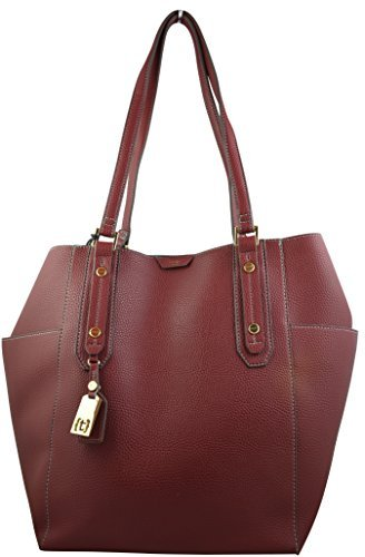 tutilo-exclusive-elegant-work-tote-sophisticated-business-womens-tote-bag-with-wristlet-burgundy