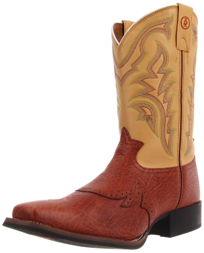 Tony Lama Boots Men's Shoulder RR1102 Boot,Peanut Shoulder Grain/Palomino Baron Calf,9 D US