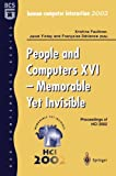 img - for People and Computers XVI - Memorable Yet Invisible: Proceedings of HCI 2002 book / textbook / text book