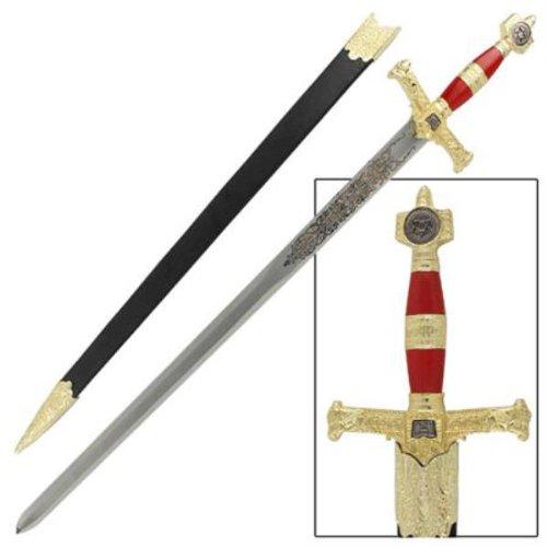 Red & Gold King Solomon Sword