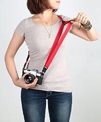 ARTISAN&ARTIST アルティザン&アーティスト イージースライダー(指一本で長さを調整・固定できるカメラストラップ・リングタイプ) レッド ACAM-E25R-RED