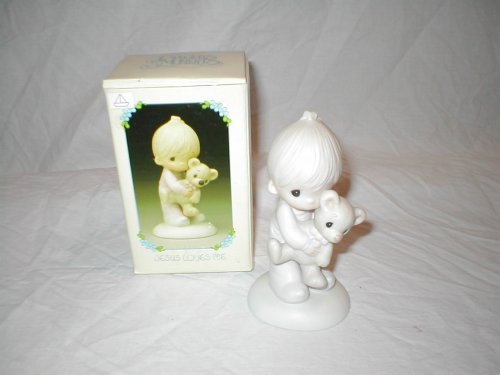 """Precious Moments """"Jesus Loves Me"""" Boy E-1372/B Porcelain Figurins front-1059529"""