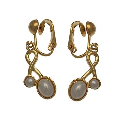 Keshia Oro clip perla Orecchini