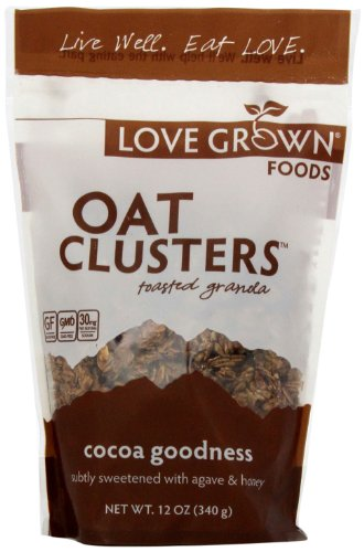 Love Grown Foods Oat Clusters and Love, Cocoa Goodness, 12 Ounce