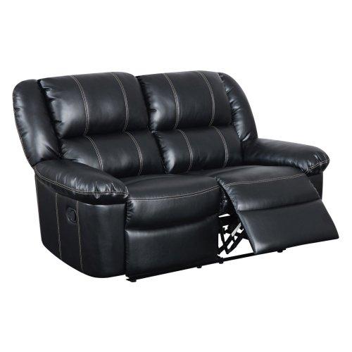 Cheap Global Furniture Usa U9966 Bonded Leather Reclining Loveseat Black Sasfurnit