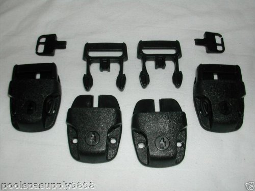 Hot Tub Spa Cover Locks w/ Key Pinch Release set of 4