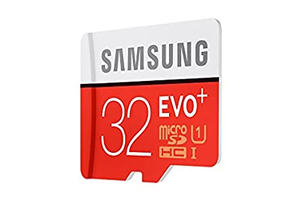 Samsung EVO Plus 32GB microSD Card, Red/Grey with adapter