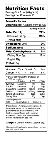 Caveman foods dark chocolate almond coconut 14 ounce for Food ingredients label template