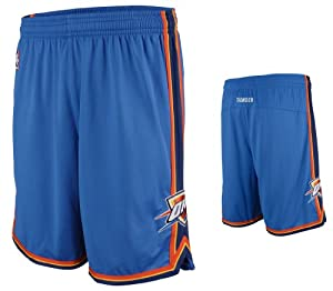 NBA Men's Oklahoma City Thunder Swingman Short (Blue, Large)