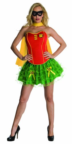 Women's Corseted Tutu Robin Costume. Ideal for Halloween. Five Sizes from 6 to 14.