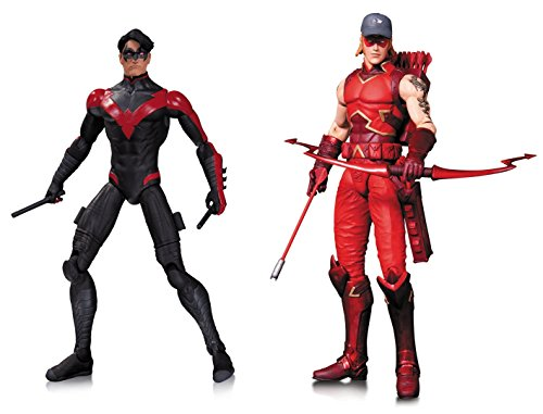 """Super Hero The New 52 Nightwing & New 52 Arsenal 6.7"""" Action Figures Toys, 2 Pack"""