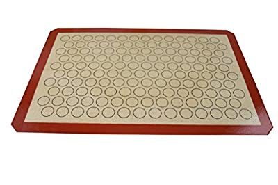 "Homankit Silicone Baking Mat for Macarons, Full Sheet Size 15 3/4"" x 23 5/8"" Coffee, Reusable Non-Stick Liner for Bake Pan, Rolling Mat, Cookies Sheet, Pizza Dough"