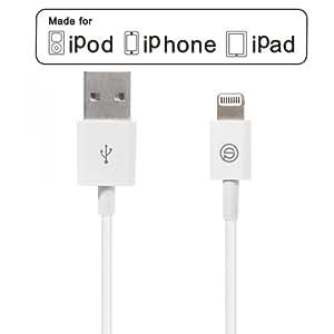 [Apple MFI zertifiziert] OPSO Apple Lightning auf USB Kabel Sync- & Ladekabel Lightning USB Datenkabel Ladekabel mit 8 Pin Stecker für Apple iPhone 6 Plus / 6 / 5 / 5S / 5C, iPad Air 2 / iPad Air / Mini 3 / Mini 2 / Mini / 4 ,iPod Touch 5 und iPod Nano 7. Generation - 1,0 m