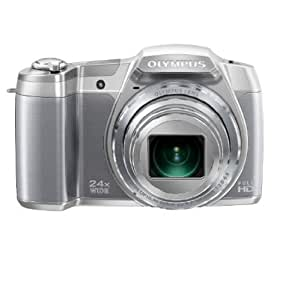 Olympus Stylus SZ-16 iHS Digital Camera with 24x Optical Zoom and 3-Inch LCD (Silver) (Old Model)