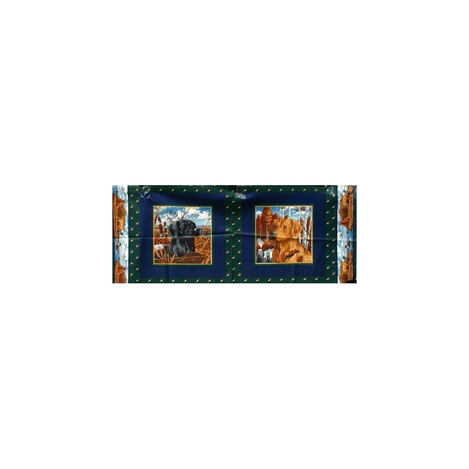 4445 Wide Hunting dogs placemats Fabric By The Yard