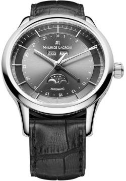 Maurice Lacroix Men's LC6068-SS001331 Les Classiqu Grey Moon Phase Dial Watch