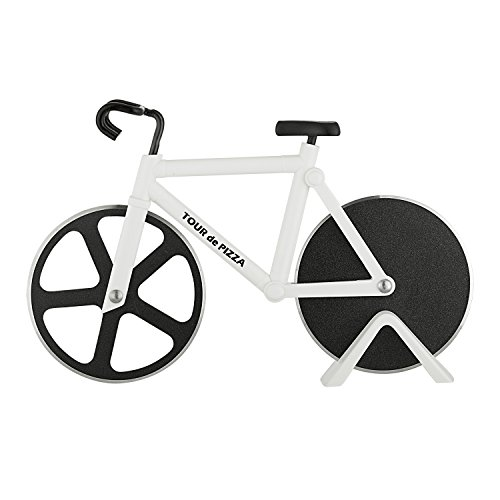 Pizza Cutter Bike - TOUR de PIZZA - Dual Stainless Steel Non-Stick...