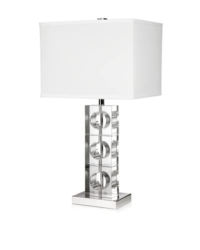 Trend Lighting Rhapsody Table Lamp, Crystal/Chrome