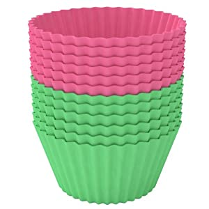 Cupcake Liners Cups - Silicone Cupcakes Molds Muffin Pan - Cup Cakes - Baking Cups -... by Silishape