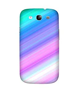 Multi Stripes Printed Back Cover Case For Samsung Galaxy S3