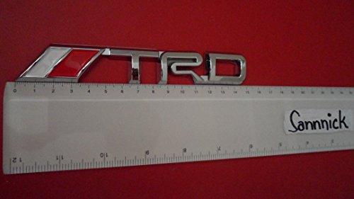 TOYOTA TRD MOTOR SPORT ABS BADGE EMBLEM WHITE RED CAR AUTO VOITURE ABZEICHEN EMBLEME STICKER CHROME DECAL DECO LOGO uk
