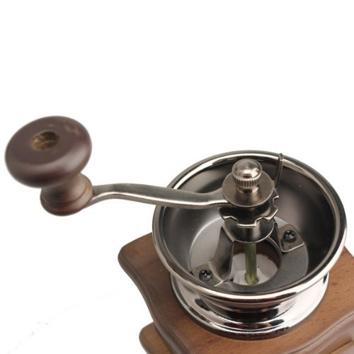 SODIAL(R) Mini Wooden Coffee Bean Spice Vintage Style hand grinder 5