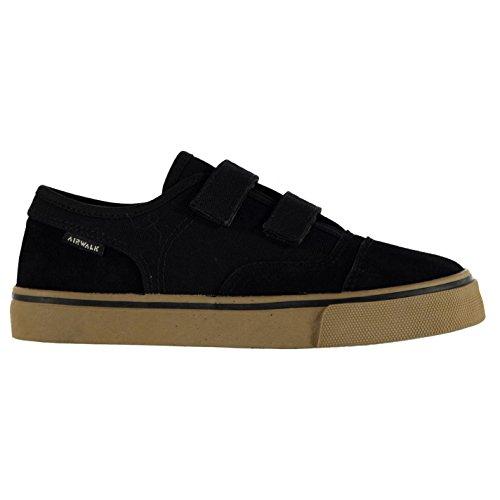 airwalk-tempo-toile-garcons-enfants-chaussures-basses-baskets-plates-plimsoles-noir-c11-29