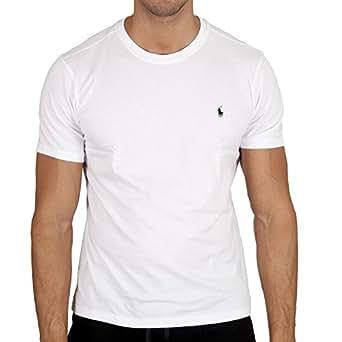 Polo Ralph Lauren Homme Logo Crew Neck T-Shirt, Blanc, Small