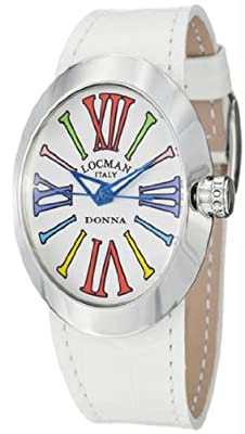 Women's Donna Quartz White Dial Orange Leather Strap