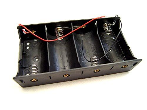 Boitier Support Coupleur 4 Piles D R20 (6V 4x1.5V) ou (4.8V 4x1.2V)