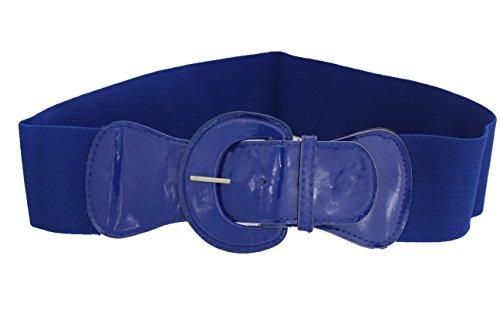 TFJ Women Fashion Belt Hip High Waist Elastic Band Plus Size M L Xl True Blue
