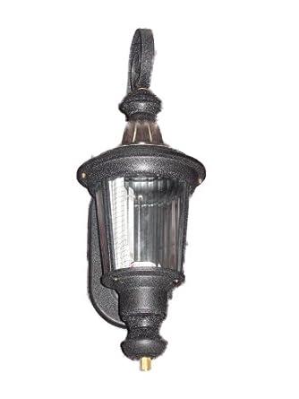 "1-light Outdoor Wall Lantern, Black-18"" Tall"