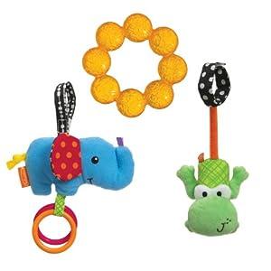 Infantino Teethe and Rattle Play Set, Animal