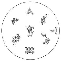 Konad Image Plate Nail Art - M39