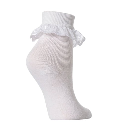 Baby/Girls Extra Soft Frilly Lace Top Socks (Pack of 3)