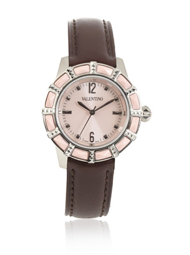 Valentino V54SBQ9797 S497 Women's Eden brown calfskin band watch.