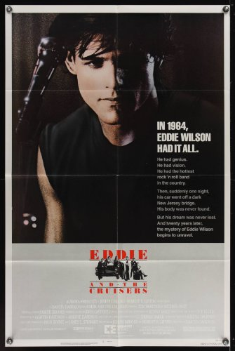 Eddie & The Cruisers One-Sheet Movie Poster '83 Close Up Of Michael Pare With Microphone, Rock 'N' Roll!