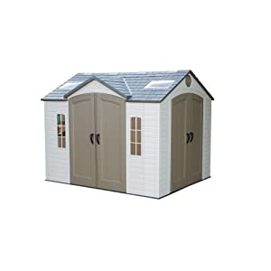 Click to buy Lifetime 8-by-10-Foot Outdoor Storage Shed from Amazon!