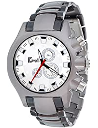 Cavalli Men's Two Tone--Silver/Grey Analog Watch
