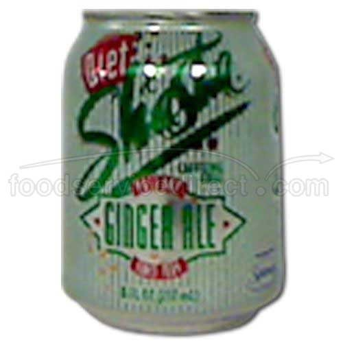 Shasta Diet Ginger Ale Soda, 8 ounce — 48 per case.