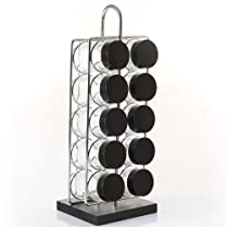 Wood and metal SPICE and HERB rack with 10 customisable pots