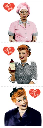 Paper House Productions ST-2094E StickyPix Stickers, 2-Inch, I Love Lucy (12-Pack) (I Love Lucy Party Supplies compare prices)