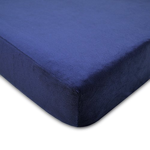 American Baby Company Heavenly Soft Chenille Fitted Crib Sheet, Navy (Crib Sheet Navy compare prices)