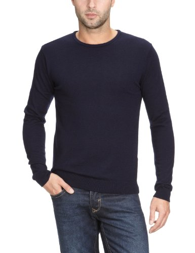 Selected Homme Tower merino crew neck Men's Jumper Maritime navy Small