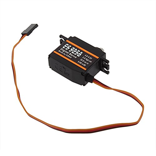 Foxnovo ES9258 Mini High Speed Metal Gear Digital Servo for RC Helicopter (Black)