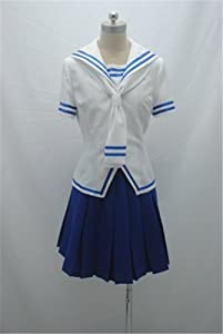 Fruits Basket Tohru Honda Cosplay Costume White&blue Dress